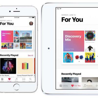 Apple Music iOS 10 iPhone iPad duo