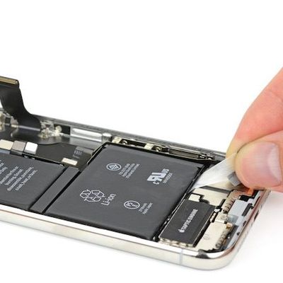 ifixit iphone x battery tabs