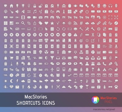 macstories shortcuts icons preview