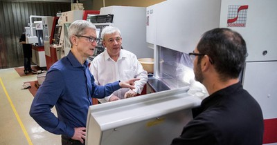 tim cook visits eldim