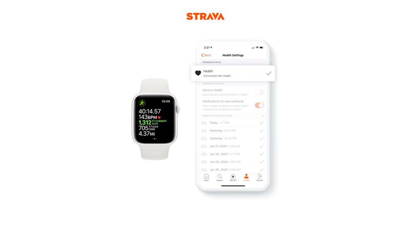 Strava for iOS Gains HealthKit Integration for Importing Apple Watch Workouts