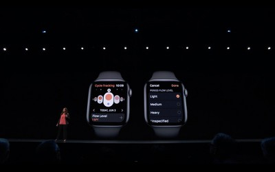 menstrual cycle tracking apple watch