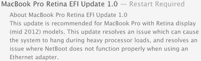 macbook pro retina efi update 1 0