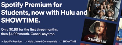 hulu spotify showtime