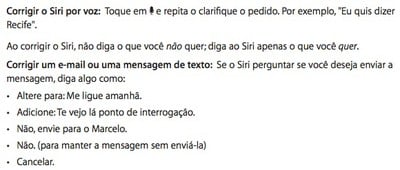 siri brazil instructions iphone 5