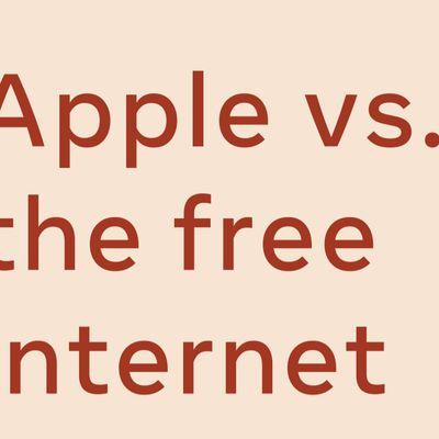 apple vs free internet facebook ad