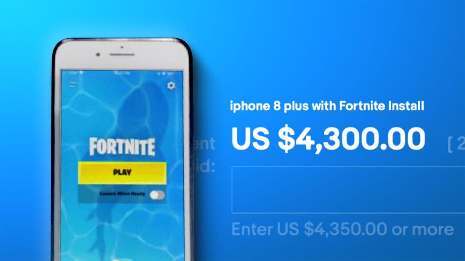 Hundreds Of Iphones With Fortnite Installed Flood Ebay Macrumors