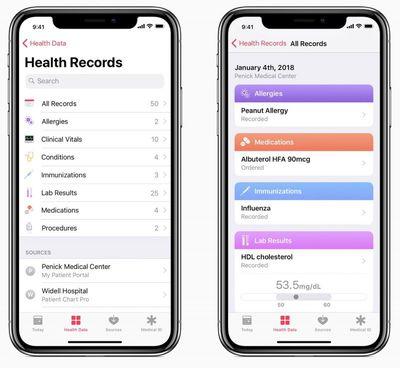 health records ios 11
