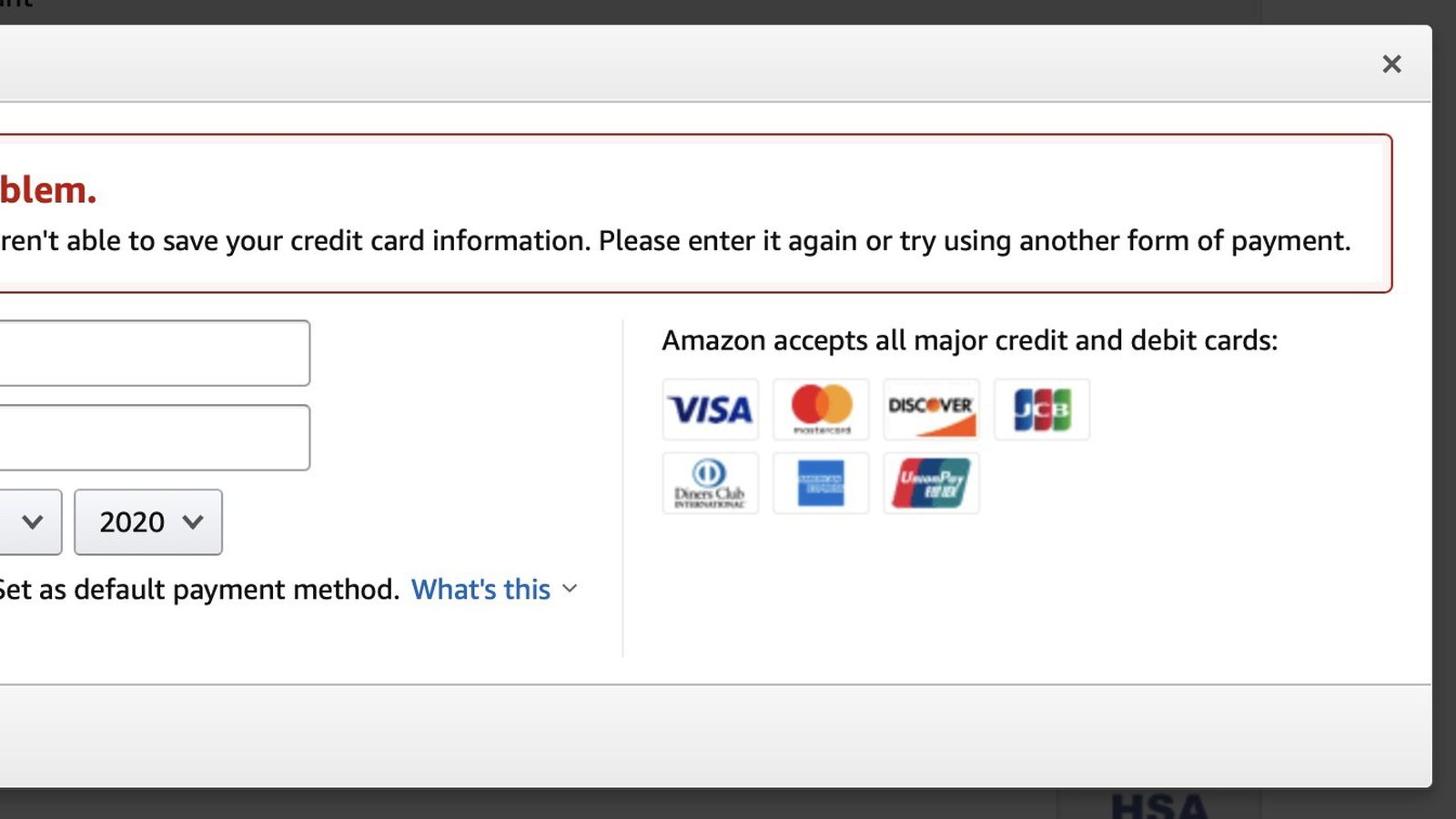Apple Cards Not Currently Working as Amazon Payment Methods Due to