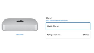 mac mini 10 gigabit