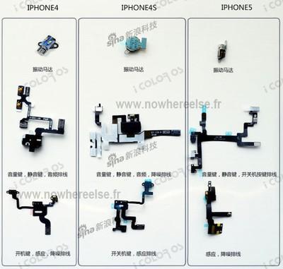 iphone 4 4s 5 component comparison 2