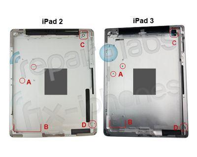 ipad 2 ipad 3 rear shell