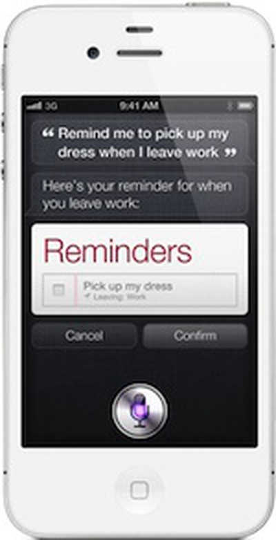 iphone 4s siri reminder