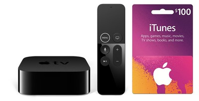 apple tv 4k itunes gift card deal