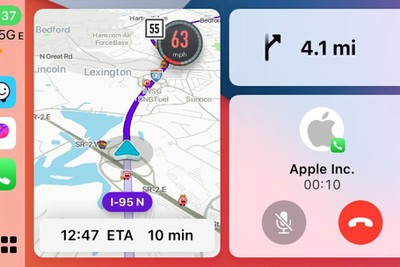 waze carplay split view