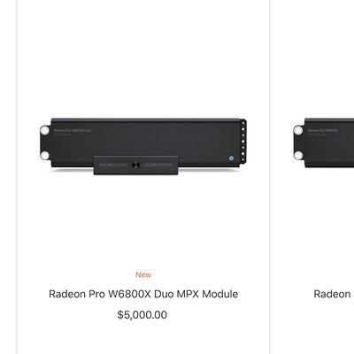 radeon pro w6000 series mpx modules