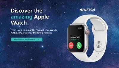o2 apple watch cellular tariffs