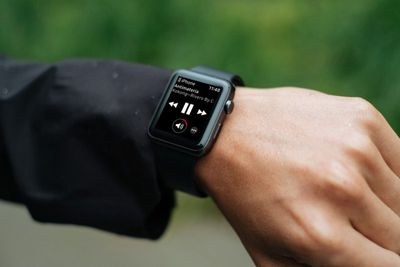 apple watch now playing screen