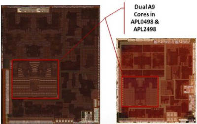 dual a9 cores a5