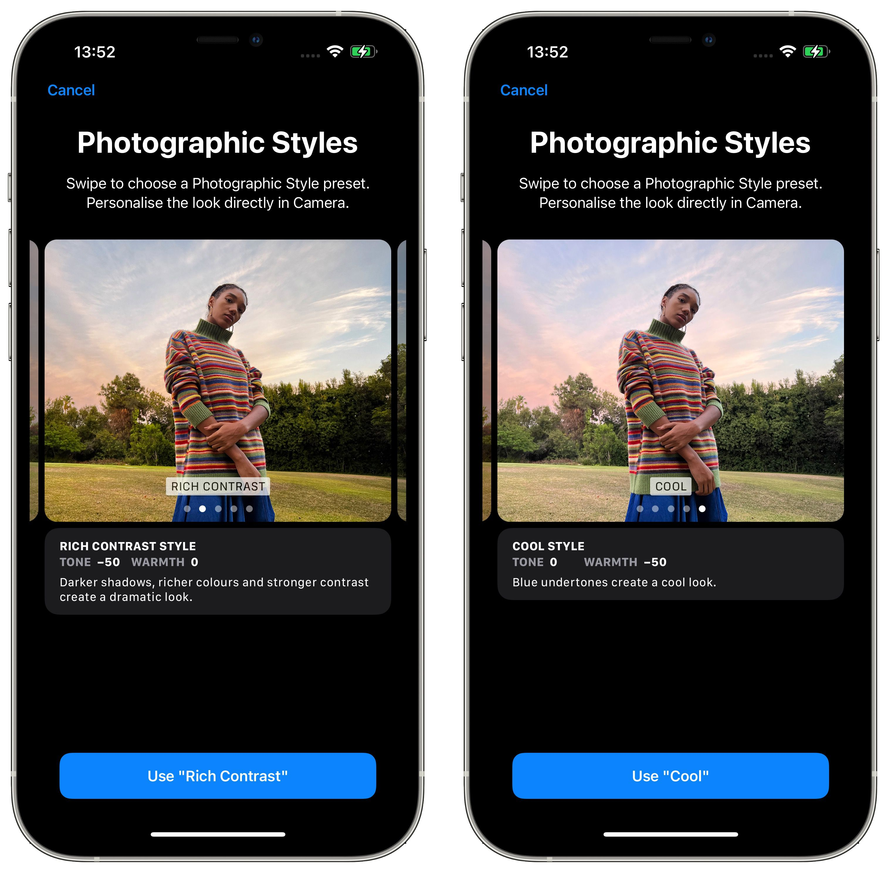 iPhone 13: How to Use Photographic Styles in the Camera App