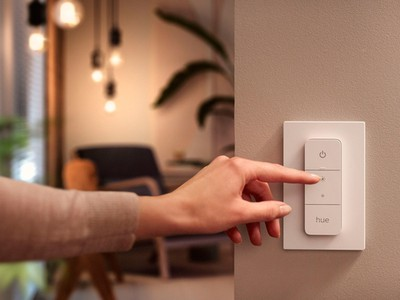 philips hue dimmer switch 2021 di dinding