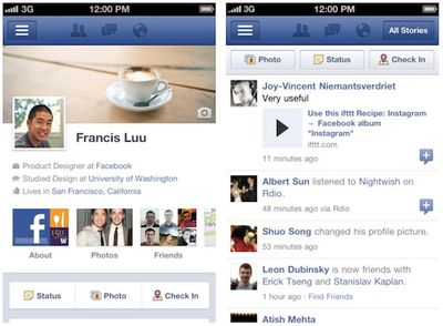 facebook iphone screenshots