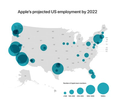 Apple build campus in Austin and in US projected employment 12132018