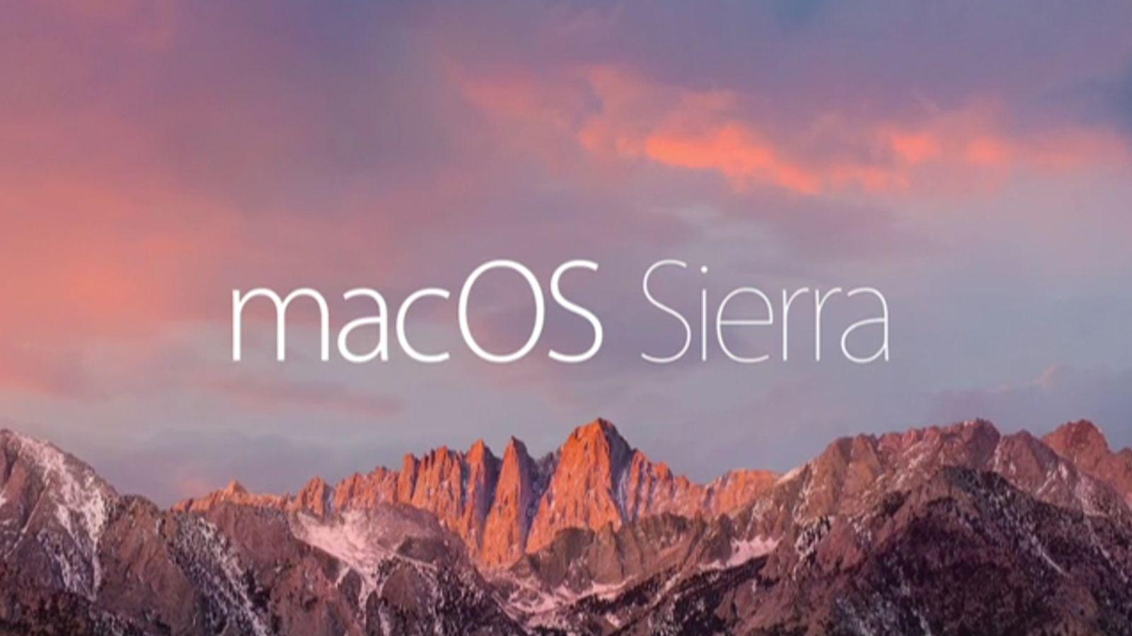 Mac Os Sierra Apple Store