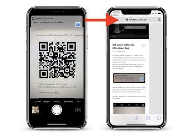 iphone qr code bug