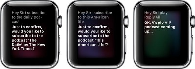 applewatchsiripodcasts