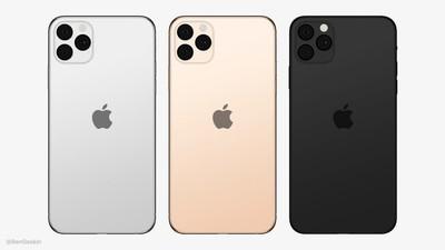 2019 iphones centered apple logo