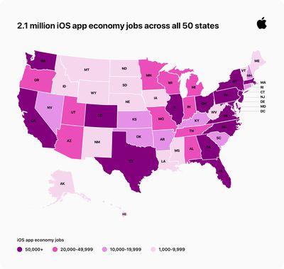 Apple iOS app economy creates new US jobs infographic 09022020 big