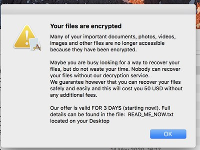 Ransomware Targets Mac Users
