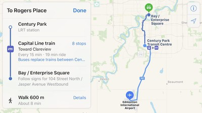 apple maps transit edmonton