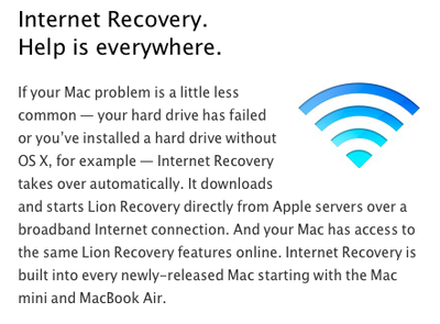 lion internet recovery