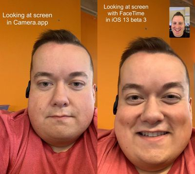 facetime correction feature ios 13 1