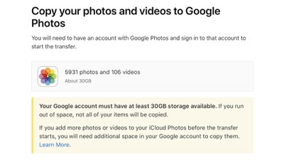 apple transfer google 2