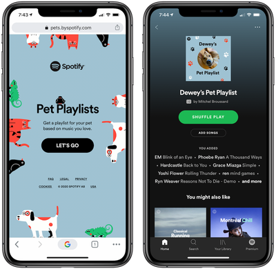 pet playlists