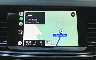 buick regal carplay maps