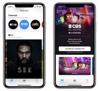 apple tv channels cbs