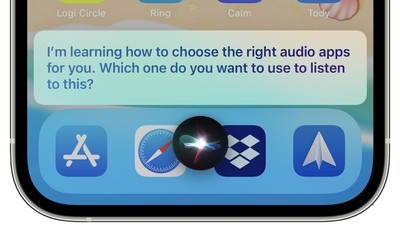 siri choose audio apps