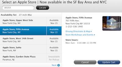 apple in store pickup nyc