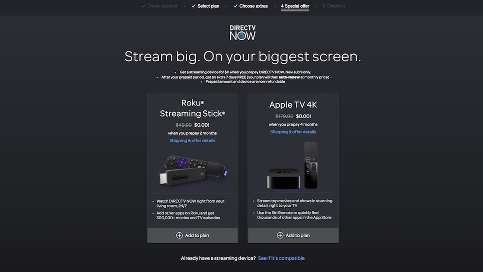 Directv Now Offering 32gb Apple Tv 4k At No Cost When Signing Up For 4 Month Service At 140 Updated Macrumors