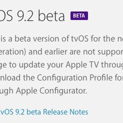 tvos 9 2 beta 1