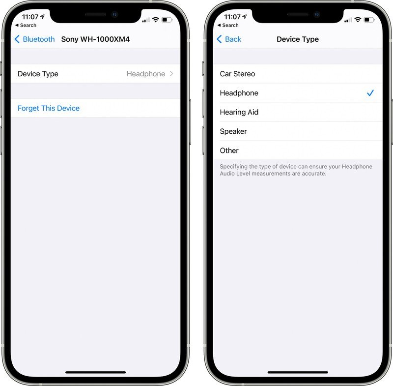 Pengaturan Bluetooth di iOS 14.4