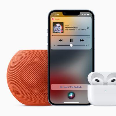 Apple HomePod mini Apple Music Voice AirPods 3rd gen 10182021 inline