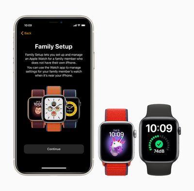 apple watch family setup iphone 11