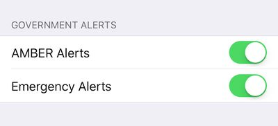 government alerts iphone