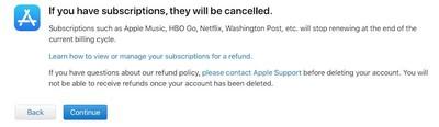 account deletion first checklist