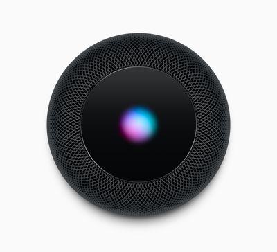 Apple HomePod Siri screen